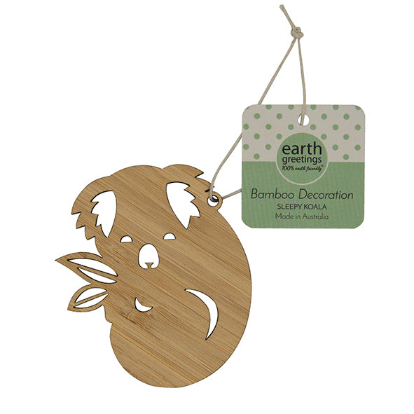 Bamboo Decoration - Sleepy Koala