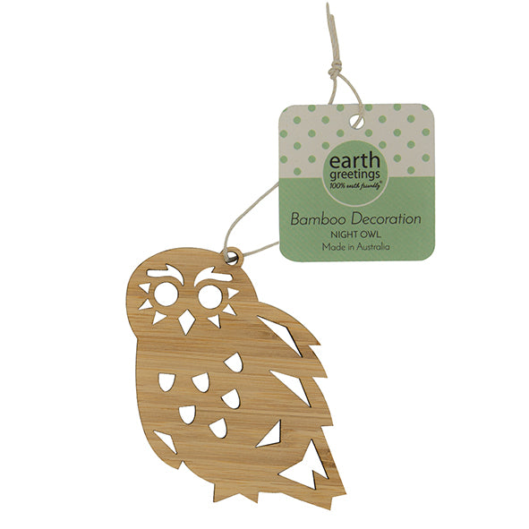 Bamboo Decoration - Night Owl