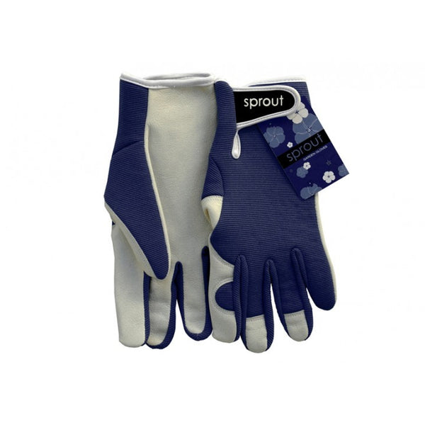 Sprout Goatskin  Garden Gloves - Navy