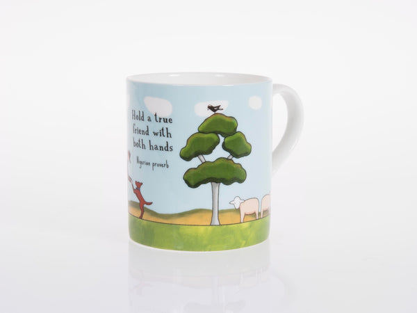 Red Tractor - Bone China Cup True Friends