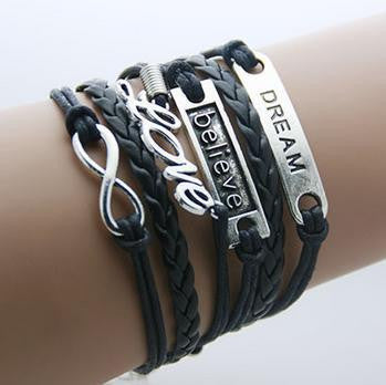 Dream Believe Love Armbånd