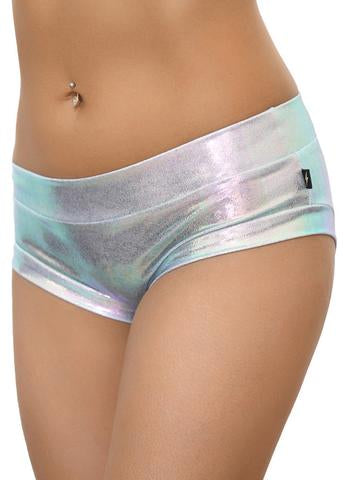 Fantasy Hot Pants - Pearlescent White