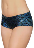 Sonic Siren Metallic Hot Pants - Turquoise (XS)