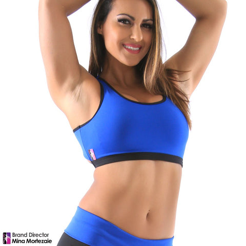 Trinity Sports Bra - Royal/Black