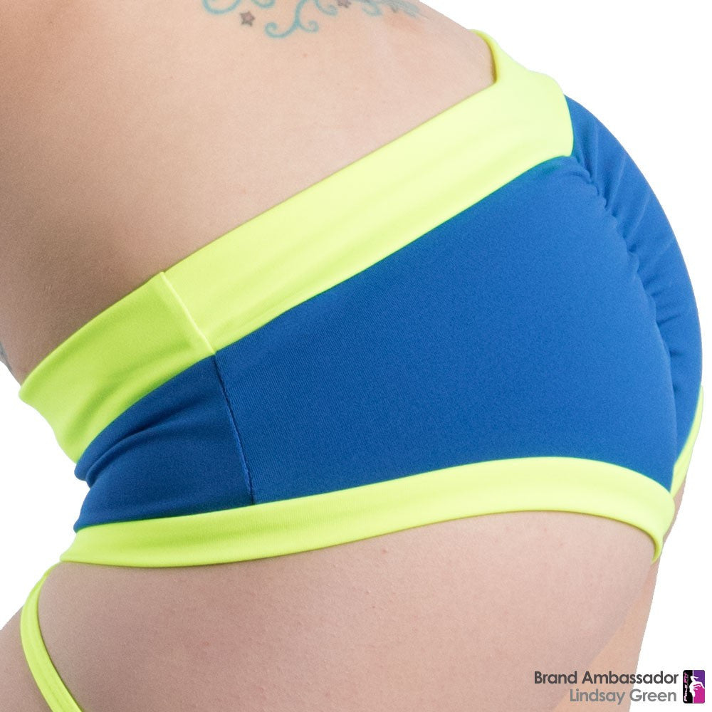 Brazil Shorts - Royal/Neon Yellow (XS)