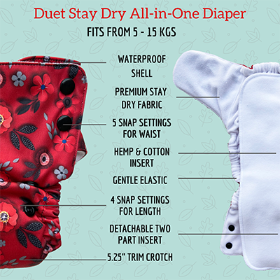 Duet diaper, best baby cloth diaper overnight night time diaper