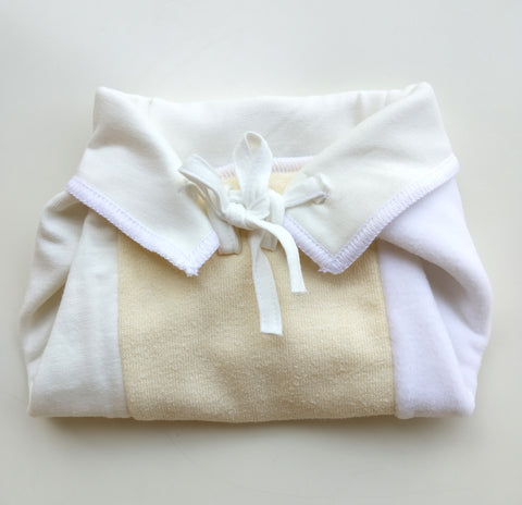 Neo Putani trifold insert used as nappy