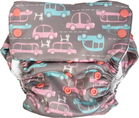 Cat Me If You Can Stay-Dry Duet Diaper