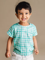 Load image into Gallery viewer, Organic Cotton CuTee - Mint Squares
