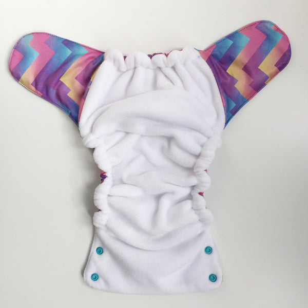 Grape Soda Stay-Dry Duet Diaper - Bumpadum Cloth Diaper