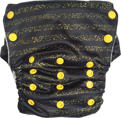 Glitterati Stay-Dry Duet Diaper - Bumpadum Cloth Diaper