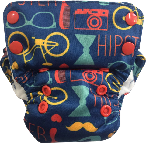 Hipster Neo All-in-One Diaper - Bumpadum Cloth Diaper