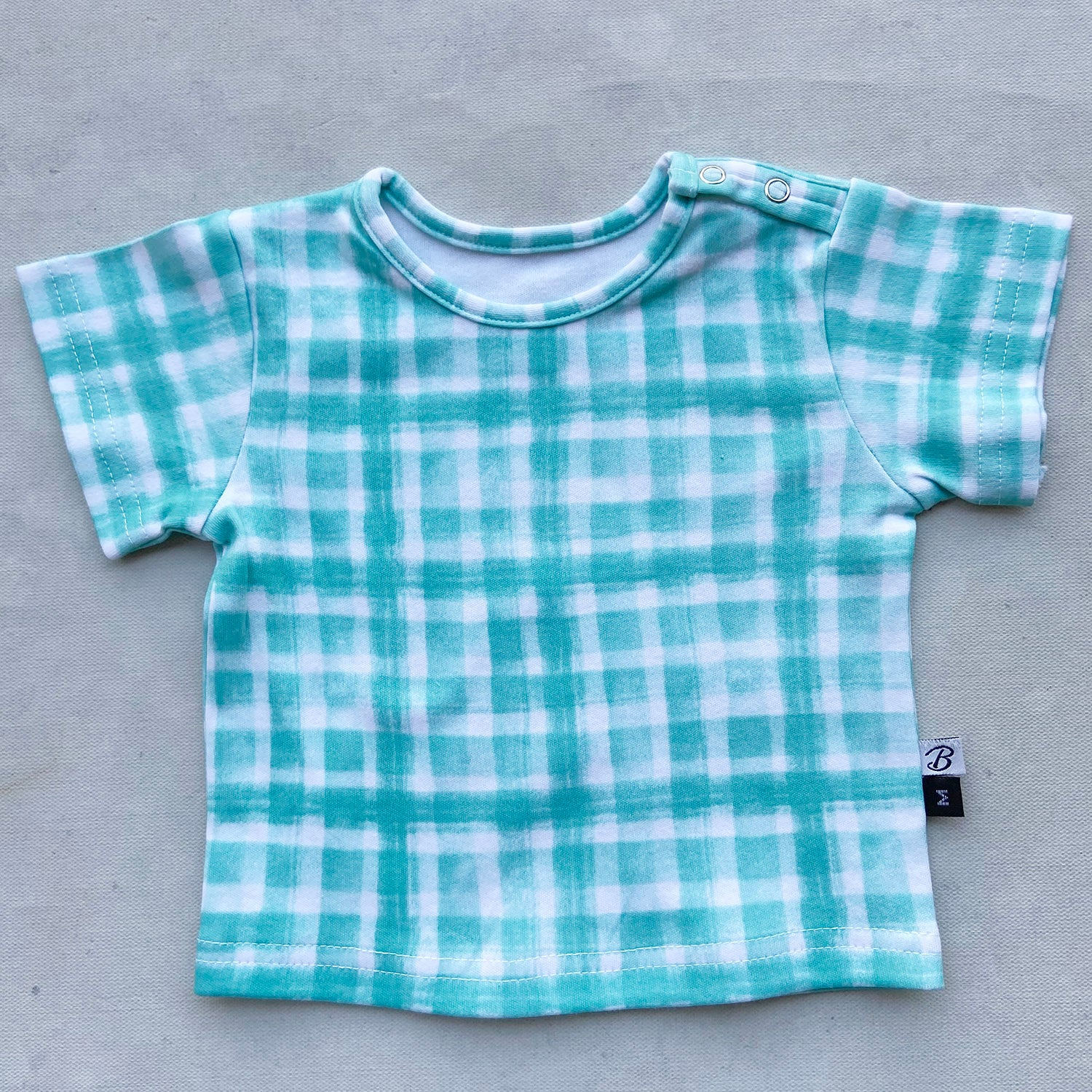Organic Cotton CuTee - Mint Squares