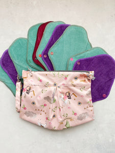 Happy Earth Mezzo Pack - Full Cycle Cloth Sanitary Pads (Two Variants Available)