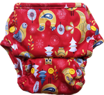 Load image into Gallery viewer, Cover Diaper with Fleece Flaps- Seconds (COVER SHELL ONLY, Multiple prints available)
