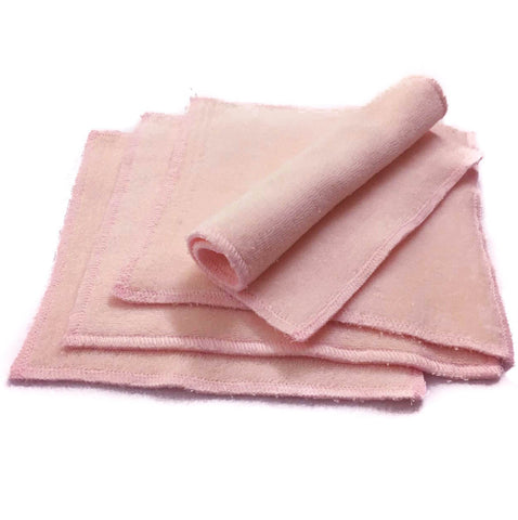 Light Pink Organic Cotton Cloth Wipes (Pack of 4) - Bumpadum Cloth Diaper
