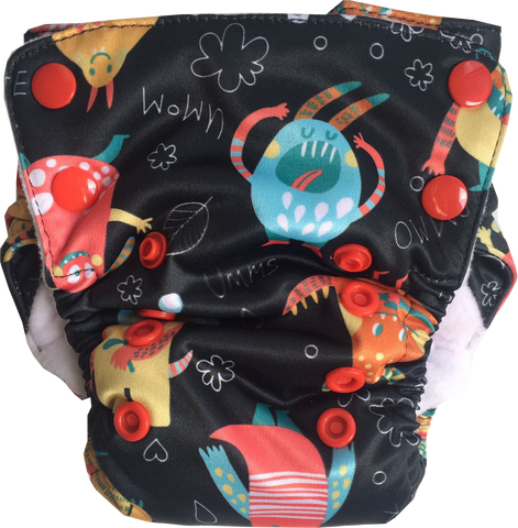 MonsterCon Neo v2 All-in-One Diaper - Bumpadum Cloth Diaper