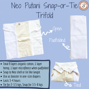 Neo Putani Snap-or-tie Trifold Insert (Set of 2) - Seconds