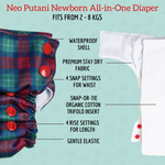 Load image into Gallery viewer, Sleepy Woods Neo Putani All-in-One Diaper