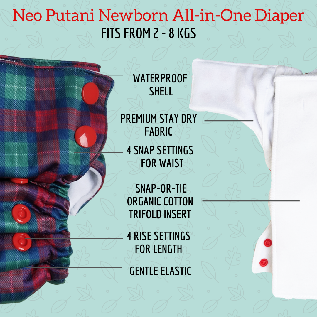 Neo Putani All-in-One Diaper - Seconds (Multiple prints available)