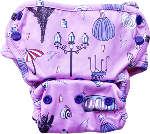 Cover Diaper with Fleece Flaps- Seconds (COVER SHELL ONLY, Multiple prints available)