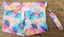 Shiny Disco - Bubbles Reversible Clutch