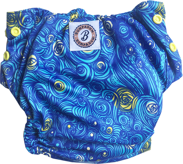 Starry Night Aviva Organic Cotton Diaper - Bumpadum Cloth Diaper