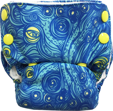 Starry Night Neo v2 All-in-One Diaper - Bumpadum Cloth Diaper