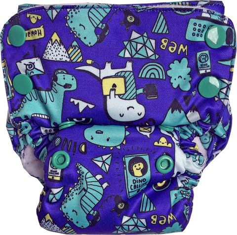 Tech-o-Saurus Neo v2 All-in-One Diaper - Bumpadum Cloth Diaper