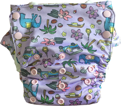 Sawatdee Stay-Dry Duet Diaper - Bumpadum Cloth Diaper