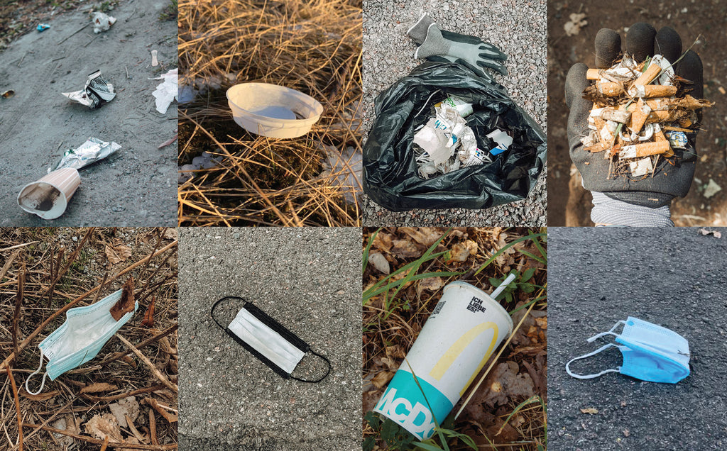 Everywhere we go, we see disposable face masks, cigarette filters, fast food wrappers - and all kinds of plastics that are dangerous for wildlife and harmful for nature. #beefrogplogging