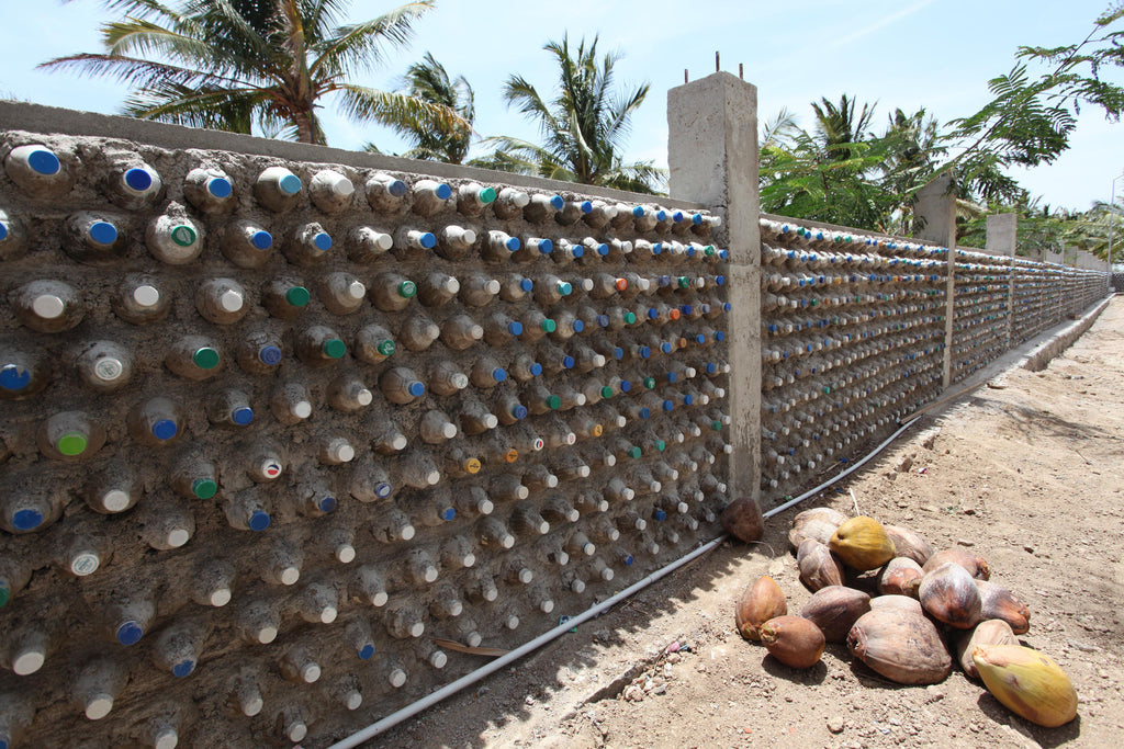 Pure Waste factory fence made with plastic bottles