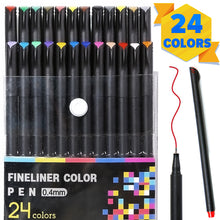 Charger l'image dans la galerie, PuTwo Colored Pens,Fine Tip Markers, Planner Accessories, Journaling Supplies, Fineliner Pens for Journaling, Drawing, Coloring, Scrapbooking (24 Colors)