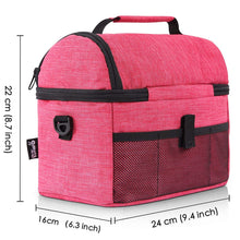 Load image into Gallery viewer, PuTwo Lunch Bag 8L Insulated Lunch Bag Lunch Box Lunch Bags Women Lunch Bag Men Cooler Bag YKK Zip Adjustable Shoulder Strap Lunch Tote Kids Lunch Box Lunch Pail - Rosy