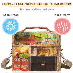 PuTwo Lunch Bag 8L Insulated Lunch Bag Lunch Box Lunch Bags for Women Lunch Bag for Men Cooler Bag with YKK Zip and Adjustable Shoulder Strap Lunch Tote for Kids Lunch Box Bento Lunch Pail – Eco-Friendly Material