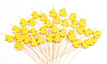 Cargar imagen en el visor de la galería, PuTwo Cocktail Toothpicks 100 Counts Cocktail Picks Handmade Natural Bamboo Cocktail Sticks Eco-Friendly Appetizer Skewers for Cocktail Appetizers Fruits Dessert - Yellow Ducks