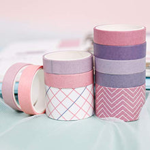 Load image into Gallery viewer, PuTwo Washi Tape, 10 Rolls Washi Tapes, 10mm/25mm Washi Tape Set, Decorative Tape, Cute Washi Tape, Vintage Washi Tape, Japanese Washi Tape, Washi Tape for Journal, Decorative Tape for Crafts