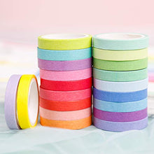 Load image into Gallery viewer, PuTwo Washi Tape, 20 Rolls Pastel Washi Tape, 8mm Washi Tape Set, Decorative Tape, Cute Washi Tape, Vintage Washi Tape, Japanese Washi Tape, Washi Tape for Journal, Decorative Tape for Crafts