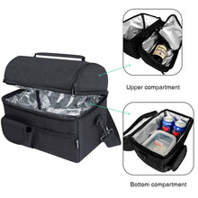 Laden Sie das Bild in den Galerie-Viewer, PuTwo Lunch Bag 8L Insulated Lunch Bag Lunch Box Lunch Bags for Women Lunch Bag for Men Cooler Bag with YKK Zip and Adjustable Shoulder Strap Lunch Tote for Kids Lunch Box Bento Lunch Pail - Black