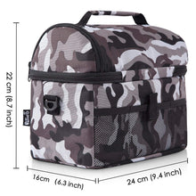 Load image into Gallery viewer, PuTwo Insulated Lunch Bag 8L Leakproof Lunch Bag for Adults Lunch Bag for Kids Women Lunch Boxes Picnic Bags Lunch Cooler Bag Meal Prep Bag Bento Box Lunch Tote for Camping Travel - Camfoulage Grey