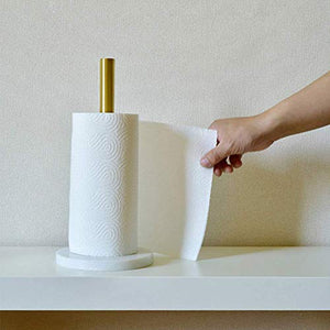 PuTwo Paper Towel Holder Countertop Stand-up Toilet Paper Roll Holder Kitchen Roll Holder Kitchen Towel Holder Vertical Paper Towel Stand, Toilet Paper Holder Stand Tower Holders for Bathrooms Kitchen