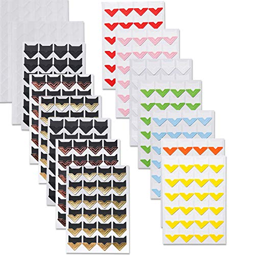 PuTwo Photo Corners, 15 Sheets 516 Pieces Photo Corners Self Adhesive, Acid Free Photo Mounting Corners, Photo Stickers, Picture Corners for Scrapbooking, Photo Album, Memory Books - 11 Colors