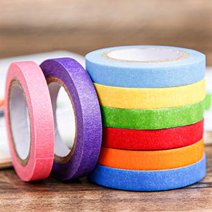 PuTwo Washi Tape,Rainbow Washi Tape,Wide Washi Tape, Decorative Tape, Cute Washi Tape, Vintage Washi Tape, Japanese Washi Tape, Washi Tape for Journal, Decorative Tape for Crafts (RAINBOW002)