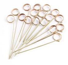 Load image into Gallery viewer, PuTwo Cocktail Sticks Toothpicks Party Supplies 100 Count - Peach Heart