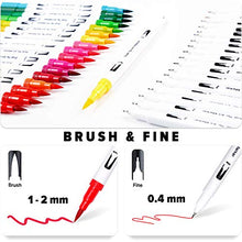 Cargar imagen en el visor de la galería, LuluPlus Dual Brush Pens, 36 Colors Brush Tip Markers, 0.4 mm Flineliner Pens and Brush Markers for Adult Coloring, Colored Pens, Drawing Pens, Coloring Markers for Coloring Books, Journaling Pens