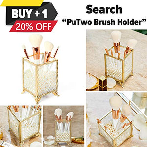 PuTwo Jewelry Organizer Oval Jewelry Tray Stainless Steel 7'' x 3.2'' Bathroom Storage Vanity Tray Decorative Trays for Perfume Organizer Jewelry Holder for Ring Earrings Necklace Bracelet - Gold