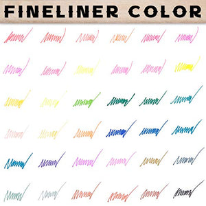 LuluPlus Dual Brush Pens, 36 Colors Brush Tip Markers, 0.4 mm Flineliner Pens and Brush Markers for Adult Coloring, Colored Pens, Drawing Pens, Coloring Markers for Coloring Books, Journaling Pens