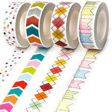 Load image into Gallery viewer, PuTwo Washi Tape, 4 Rolls Decorative Tape, 15mm Washi Tape Set, Decorative Tape, Cute Washi Tape, Vintage Washi Tape, Japanese Washi Tape, Washi Tape for Journal, Decorative Tape for Crafts