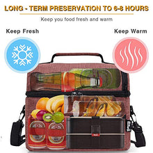 Carica l'immagine nel visualizzatore di Gallery, PuTwo Lunch Bag 8L Insulated Lunch Bag Lunch Box Lunch Bags for Women Lunch Bag for Men Cooler Bag with YKK Zip and Adjustable Shoulder Strap Lunch Tote for Kids Lunch Box Lunch Pail - Brown