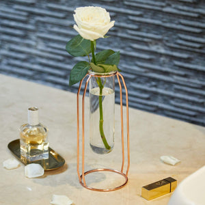 PuTwo Plant Vase Flower Vase Glass Vase Decorative Vases Set of 2 Ideal for Artificial Flowers Botanic - Gold